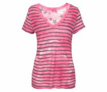 Strandshirt anthrazit / pink / weiß