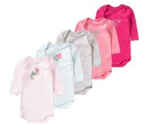 5er-Pack Bodys für Mädchen rosa