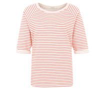 Halbarm-Sweatshirt 'Elisa Stripes' rot