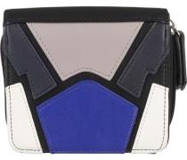 'Olimpia' Geldbörse 11 cm blau / greige / schwarz