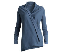Relaxed Fit Wickeltop »That's A Wrap« blau