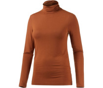 Rollkragenpullover orange