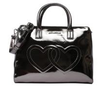 Handtasche 'Embossed Heart' schwarz
