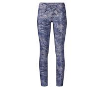 Jeans 'nena Cropped - chill print' blue denim