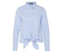 Bluse zum Knoten hellblau
