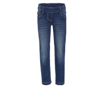 Stretchige Röhrenjeans blue denim