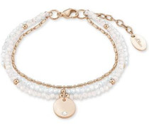 Armband rosegold / weiß