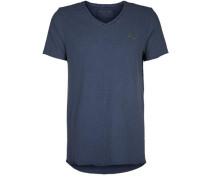 T-Shirt V Neck blau