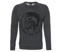 Sweatshirt mit Logo-Stickerei 'Orestes' dunkelgrau