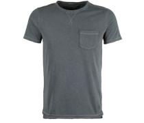 T-Shirt 'crew Pocket Pigment' schwarz