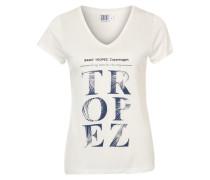 Print-Shirt mit Frontprint blau