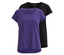 T-Shirt 'Vidreamers Double Pack' blau / schwarz