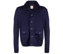 Strickjacke 'blouson Knit' blau