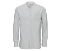 Chinakragen-Freizeithemd weiß