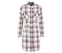Hemdkleid im Karo-Design grau / weiß