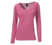 Rundhalspullover pink