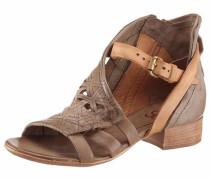 Sandalette dunkelbeige / hellbraun