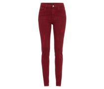 Slimfit Jeans 'regent Stripe' rot / schwarz