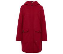 Mantel aus Wollgemisch mit Taschen blutrot