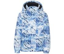 Winterjacke blau / weiß