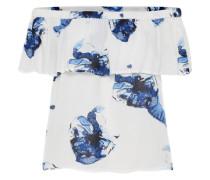 Tunikabluse 'Ibar' blau / weiß