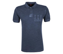 Poloshirt im Garment-Dye-Look navy