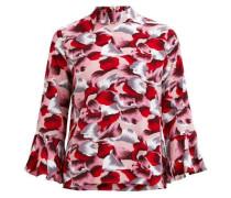 Bluse mit 3/4 Ärmeln Gemusterte rosa / rot