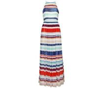 Kleid 'agatha Chiffon Maxi Dress' beige / hellblau / dunkelblau / ocker / rot / dunkelrot / weiß