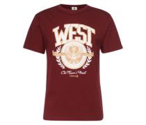 T-Shirt 'West University Tee' weinrot
