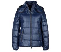 Winterjacke mit Kapuze blau