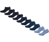 10 Paar Sneaker Socken blau
