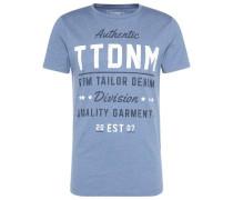 T-Shirt mit Schrift-Print blau