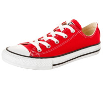 Chuck Taylor All Star OX Canvas Sneaker Kinder rot / schwarz / weiß