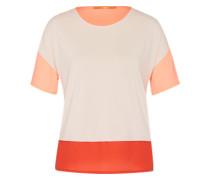 T-Shirt 'Tustripe' orange / apricot / orangerot