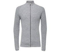 Regular Fit Strick-Cardigan grau