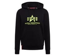 Sweatshirt 'Basic Hoody Neon Print'
