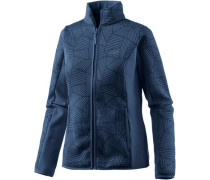 Fleecejacke 'Forest Leaf' dunkelblau