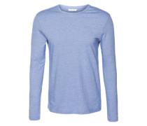 Langarmshirt in meliertem Streifen-Design 'Kronos' blau