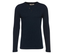 Shirt 'men's serafino ls' dunkelblau