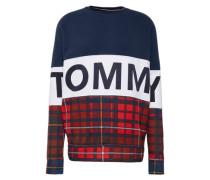 Sweatshirt in Muster-Mix dunkelblau / rot / weiß