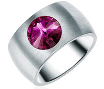 Ring Edelstahl Made With Swarovski Elements lila silber