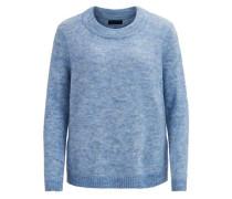 Gestrickter Pullover himmelblau