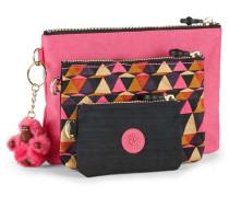 'Iaka' Taschen 3-tlg. pink / schwarz