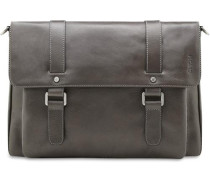 'Buddy' Business-Tasche Leder 37 cm grau / graphit