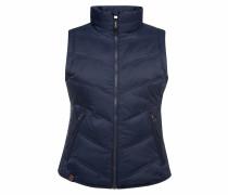Outdoorweste mit Zippertaschen dunkelblau