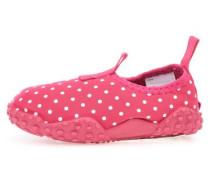 Strand-Schuhe 'Zarila' dunkelpink / weiß