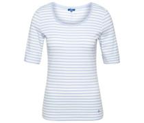 Gestreiftes T-Shirt hellblau / weiß