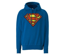 "Kapuzen-Sweatshirt ""Superman"" blau"