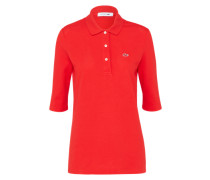 Polo-Shirt mit Label-Applikation rot