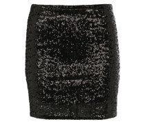 Minirock mit Pailletten schwarz